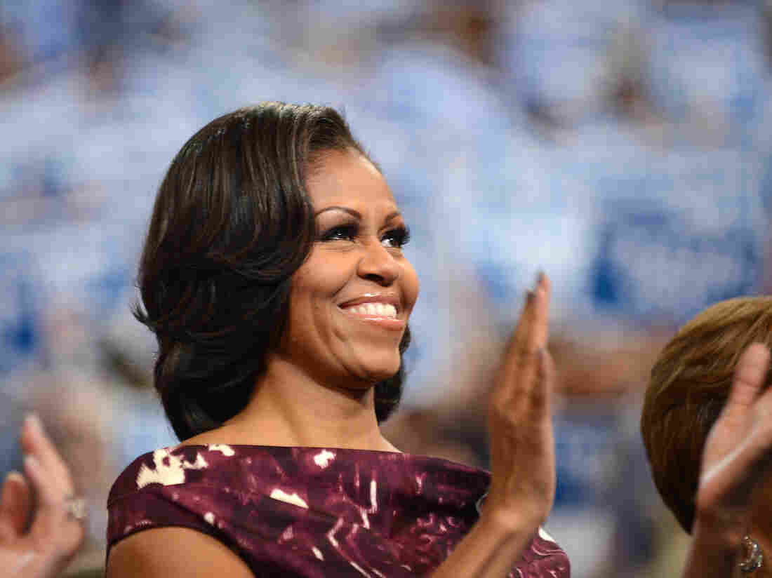 First lady Michelle Obama at the Democratic National Convention in Charlotte, N.C.