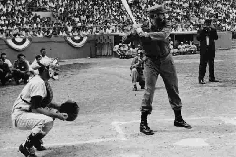 Castro playing baseball in 1965. Castro was a huge fan and supporter of baseball, attending many games and participating in intramural competitions when he was in college.
