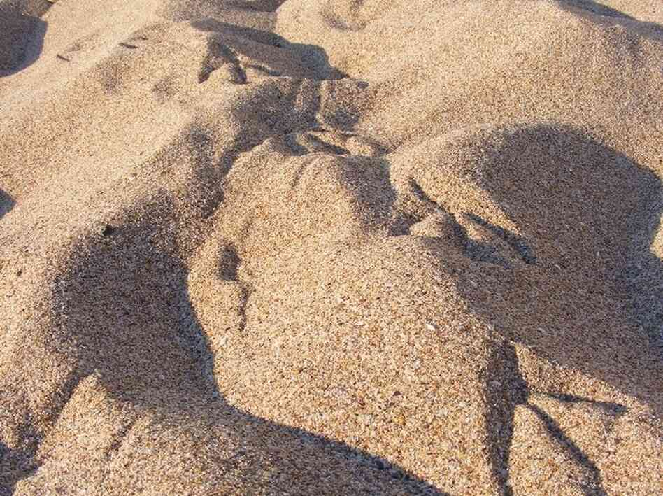 Grains of sand.