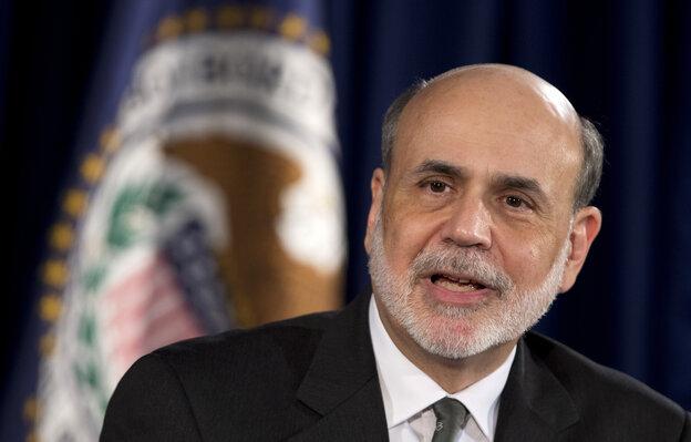 Federal Reserve Chairman Ben Bernanke speaks during a news conference in Washington.