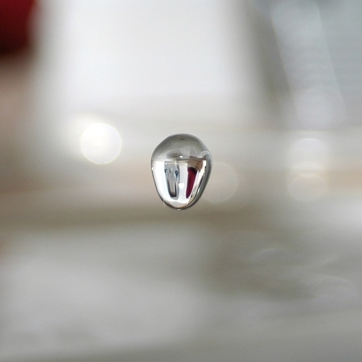 A single drop of water.