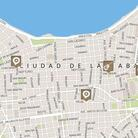 World Cafe's interactive map of Havana, Cuba.