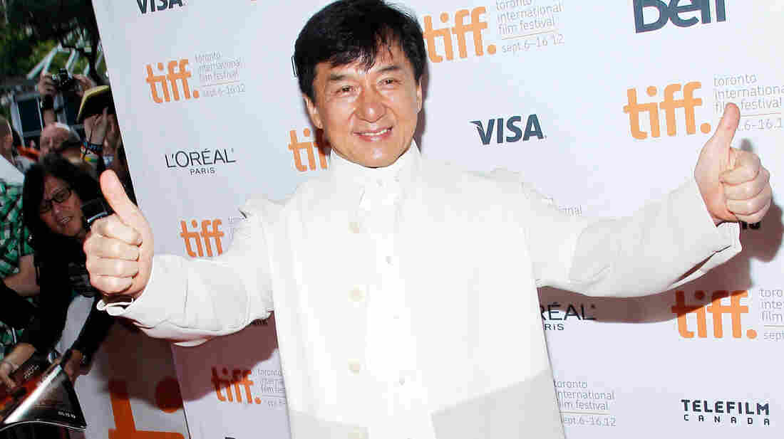 Actor Jackie Chan appears at the Toronto International Film Festival.