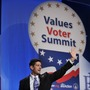 Republican vice presidential nominee Paul Ryan speaks Friday at the Values Voter Summit in Washington, D.C.