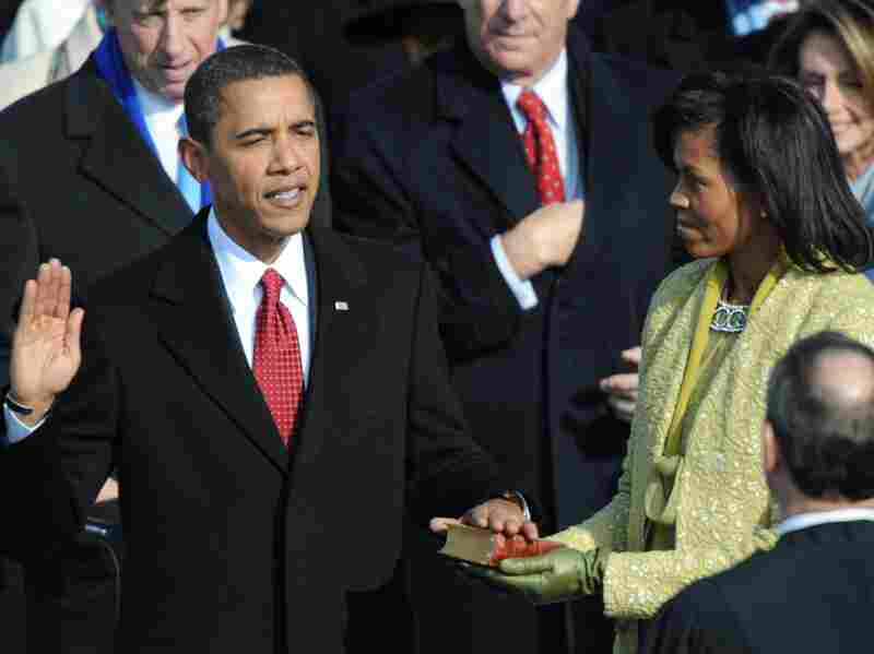 Barack Obama is sworn in as the 44th president of the United States on Jan. 20, 2009, in Washington.