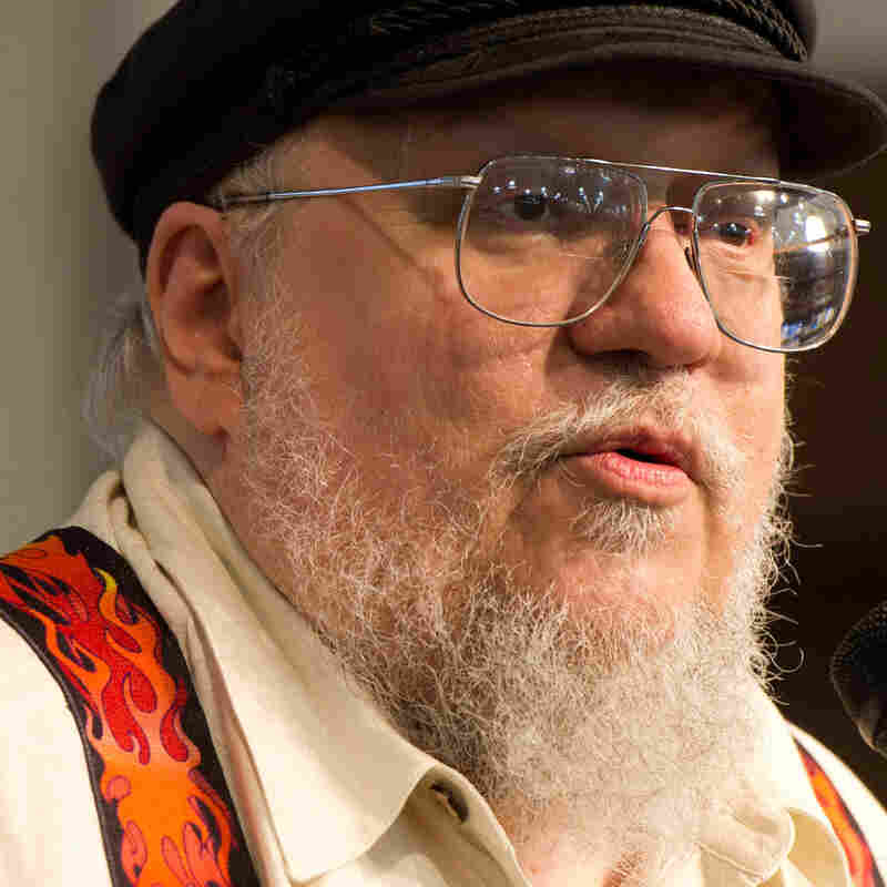 Author George R.R. Martin appears at a book signing for A Dance with Dragons in New York in July 2011.