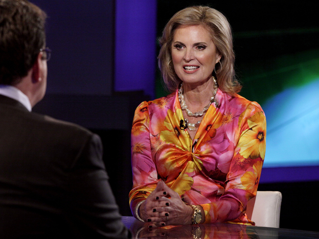 Ann Romney in New York on Friday tapes an interview with Fox's Neil Cavuto. She also spoke with ABC's Kelly Ripa and Michael Strahan.
