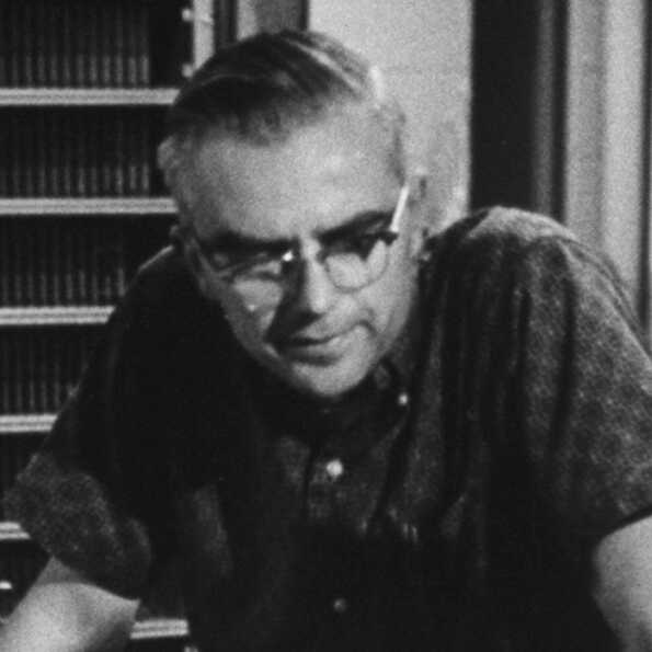 Radio astronomer Frank Drake at National Radio Astronomy Observatory, circa 1962.