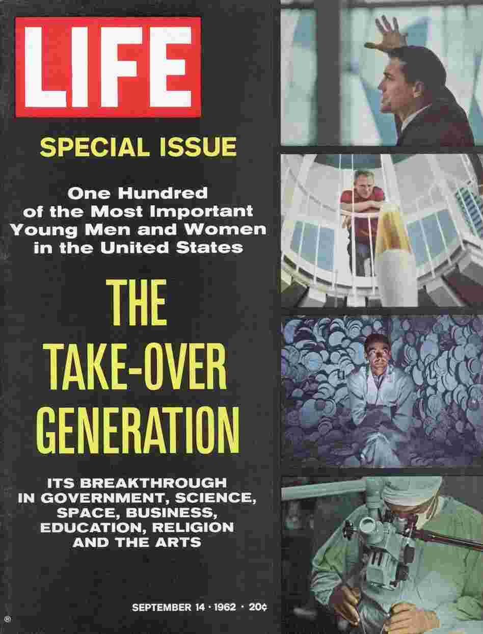 Life magazine cover from the Sept. 14, 1962, issue profiling promising young Americans of the time.