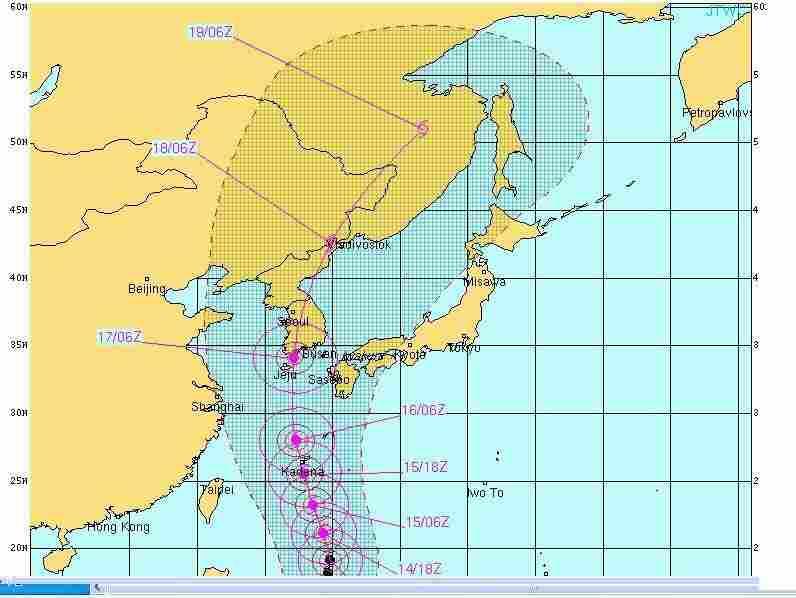 Super typhoon Sanba