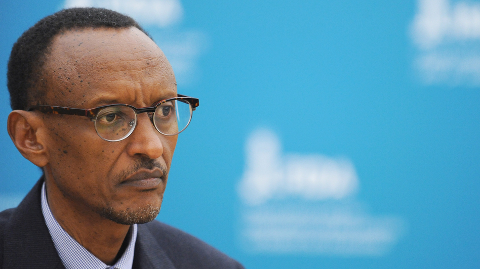 Rwanda's President Paul Kagame at the International Fund for Agricultural Development headquarters in Rome in February. Changes in agriculture have been part of the country's economic growth.