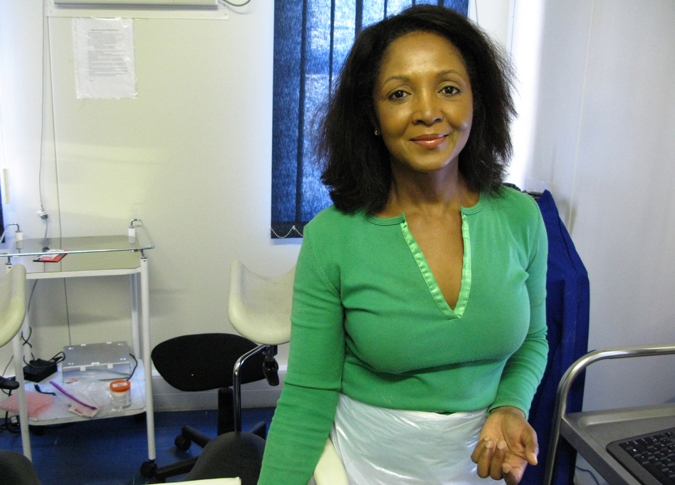 Doreen Ramogola-Masire, an obstetrician-gynecologist in Botswana, hopes that a simple, quick screen for cervical cancer with vinegar will catch the disease early and save women's lives. (Jason Beaubien/NPR)