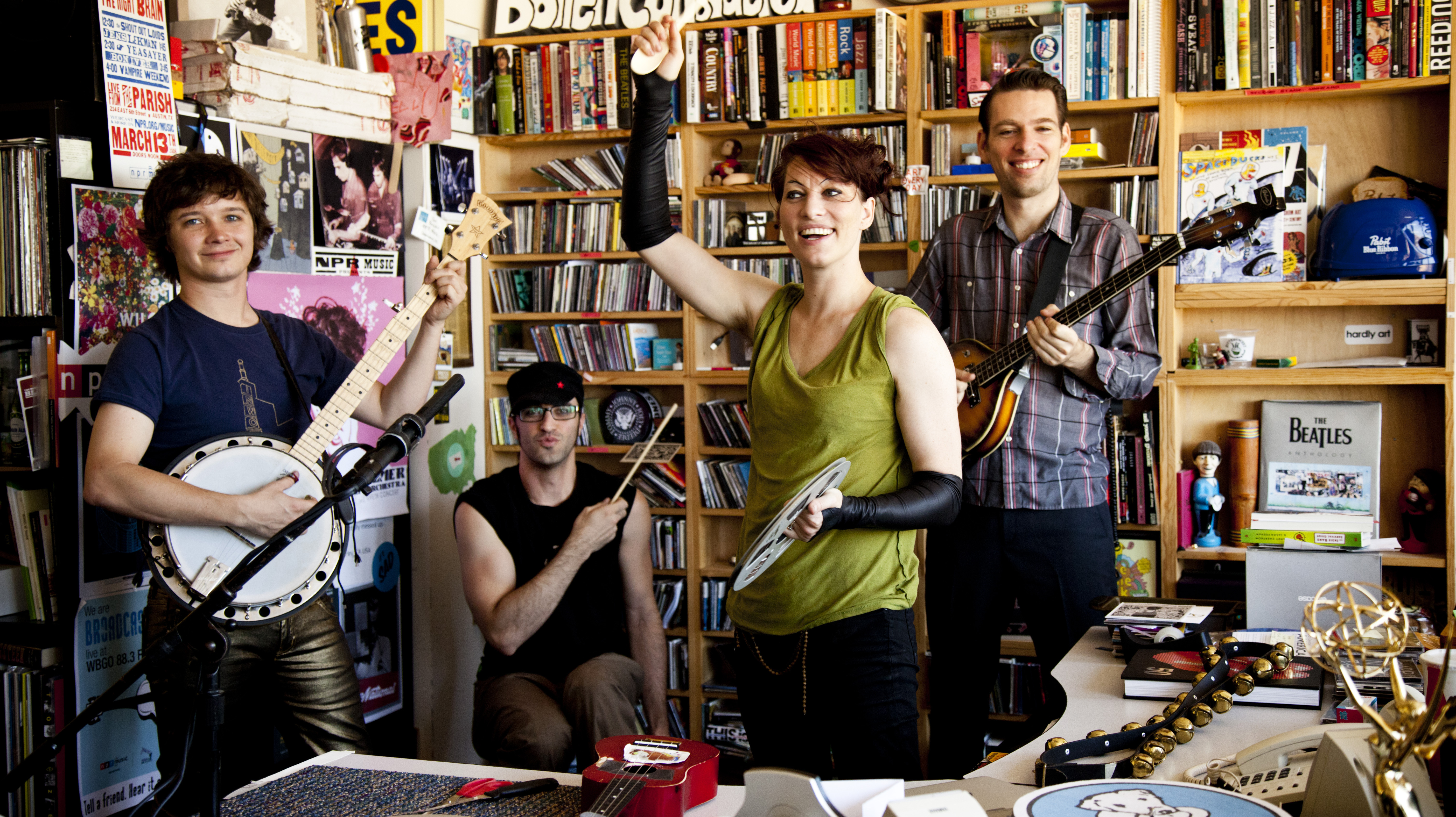 Amanda Palmer And The Grand Theft Orchestra During Tiny Desk At Npr Kainaz Amaria