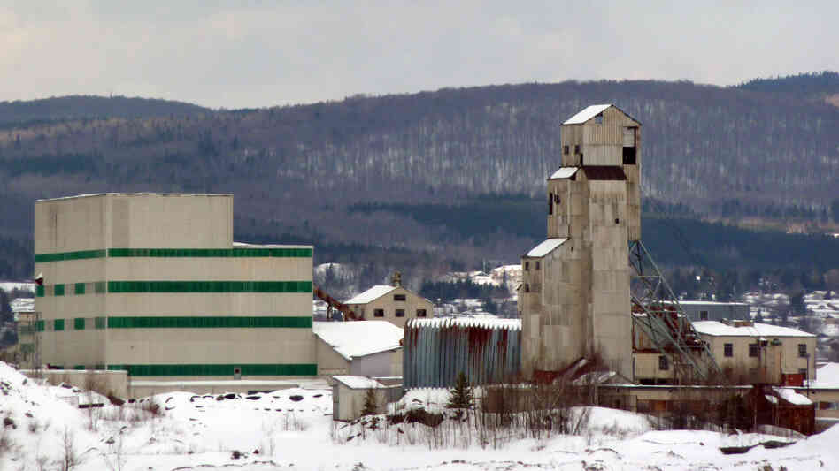 A former Asbestos plant is seen February in Thetford Mines, Quebec. Canada has ended its refusal to allow chrysotile asbestos to be added to the U.N.'s Rotterdam Convention on hazardous materials.