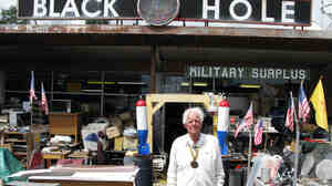 """Atomic Ed"" Grothus at the Black Hole surplus story in Los Alamos, N.M., in 2008."