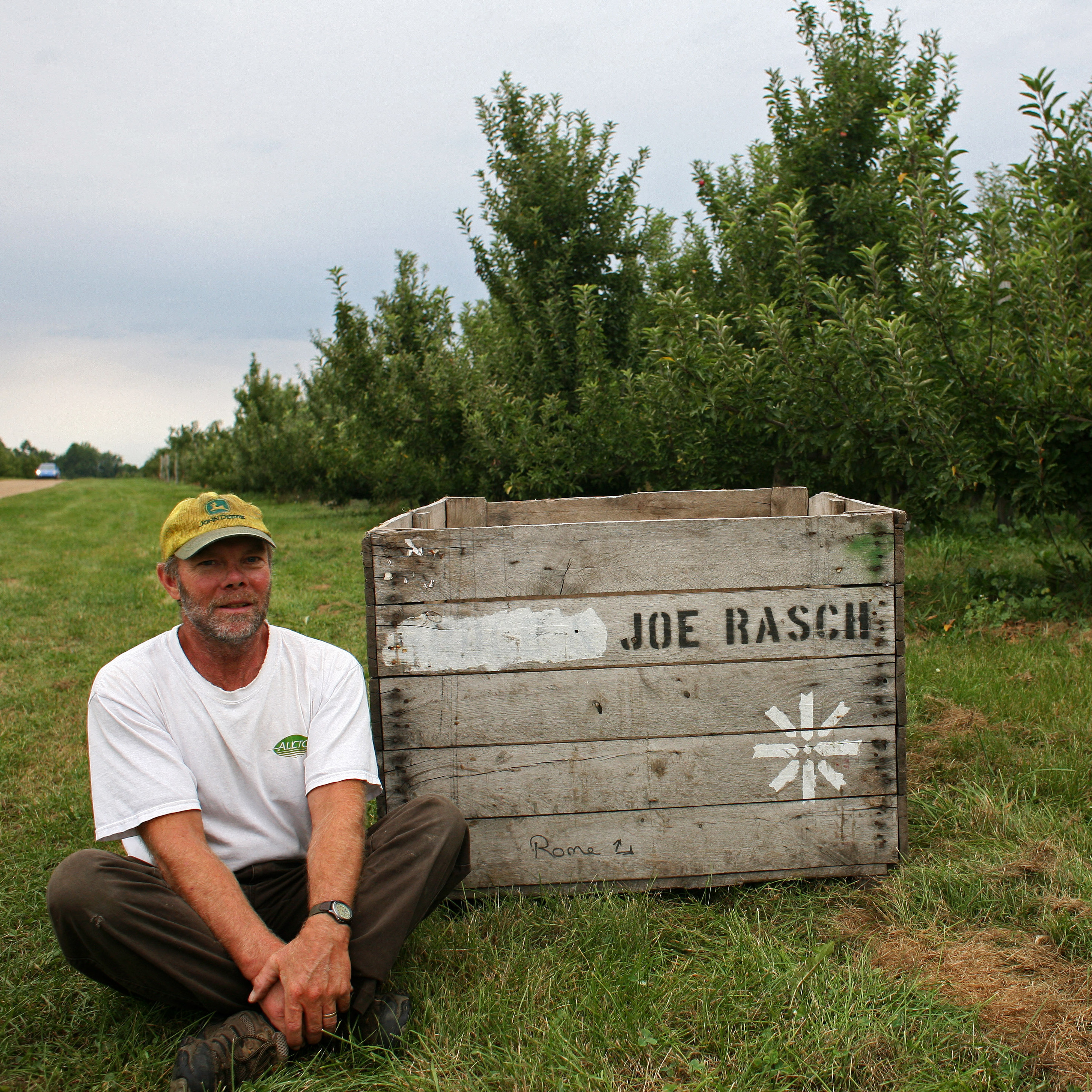 Joe Rasch has been a full-time apple grower for nearly 20 years. He says that this year, he's having trouble filling his bins.