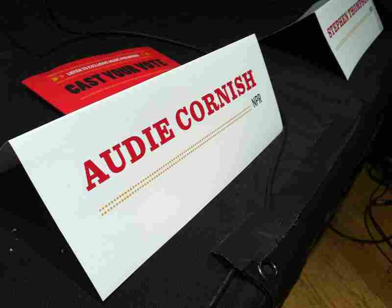 On of the the evening's panelists was 'All Things Considered' host Audie Cornish.