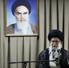 Iranian Supreme Leader Ayatollah Ali Khamenei delivers a speech in Tehran in July. Khamenei says Western-led sanctions will not force Iran to change its policies, but there are signs of other concerned voices in Iran.