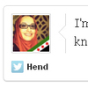 "A screengrab shows a tweet by Hend: ""I'm having such a good hair day. No one even knows. #MuslimRage."" The hashtag sparked a flurry of jokes Monday."