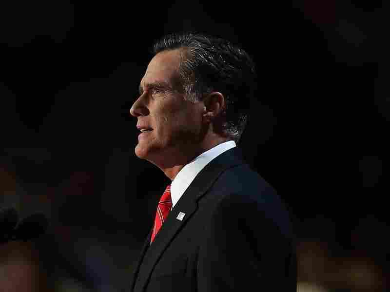 Republican presidential candidate, former Massachusetts Gov. Mitt Romney delivers his nomination acceptance speech dur