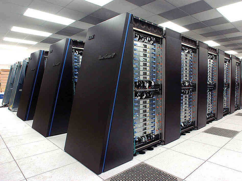 New IBM Blue Gene/P supercomputer at the Argonne Leadership Computing Facility.