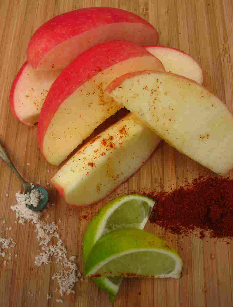 Spicy, Salty Apple Snack