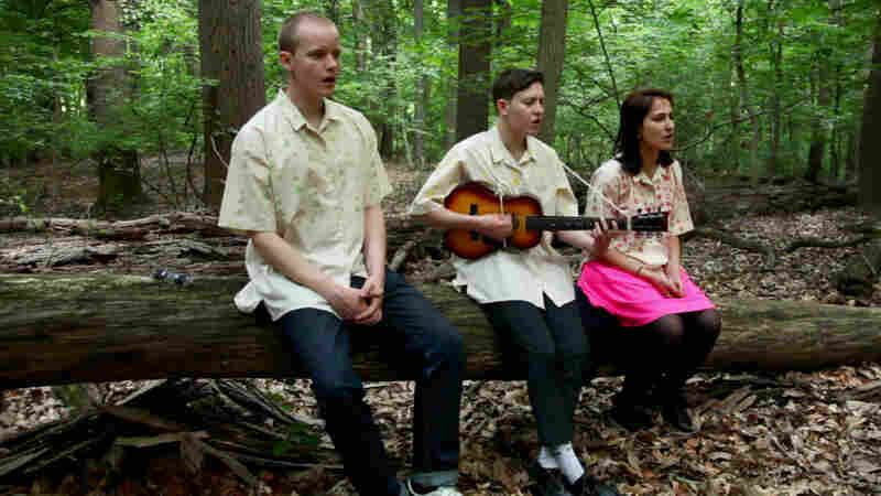 Micachu and the Shapes perform for a Field Recordings video in Rock Creek Park, Washington, D.C.