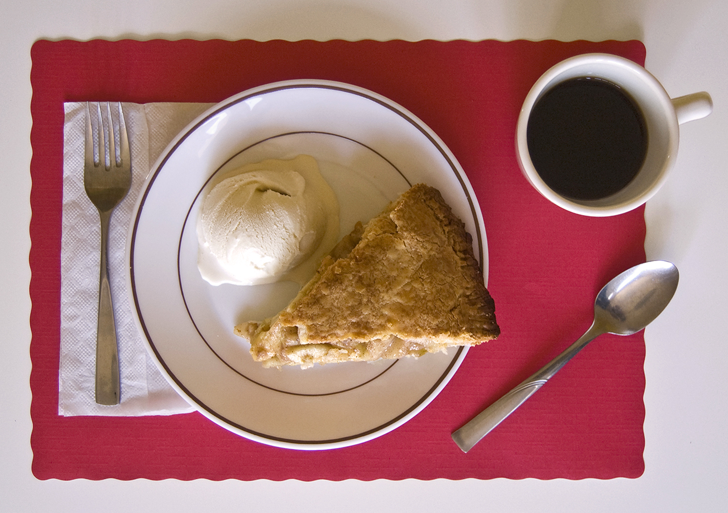 """I ate apple pie and ice cream -- it was getting better as I got deeper into Iowa, the pie bigger, the ice cream richer."" (On the Road)"