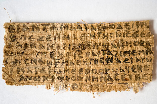 The front of the papyrus fragment.