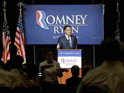 Republican presidential nominee Mitt Romney speaks at a campaign fundraising event in Salt Lake City on Tuesday.