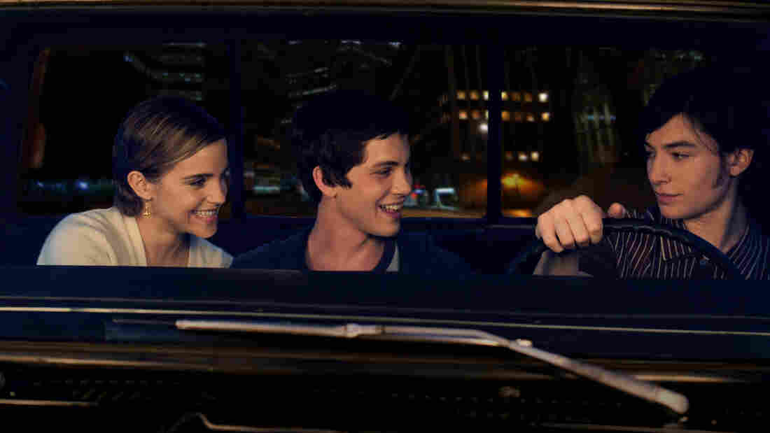 Sam (Emma Watson), Charlie (Logan Lerman) and Patrick (Ezra Miller) help each other through the lowest parts of high school in The Perks of Being a Wa