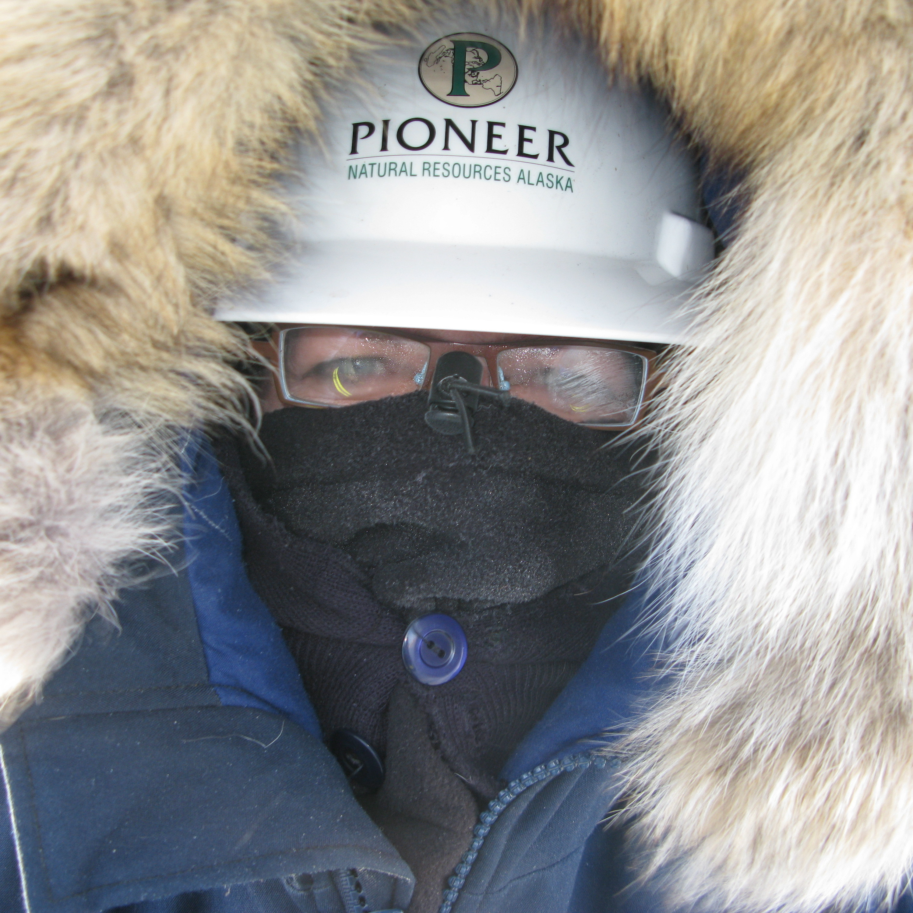 Author Jeanne Marie Laskas, bundled up on Oooguruk Island in Alaska, where she spent time on an oil rig.