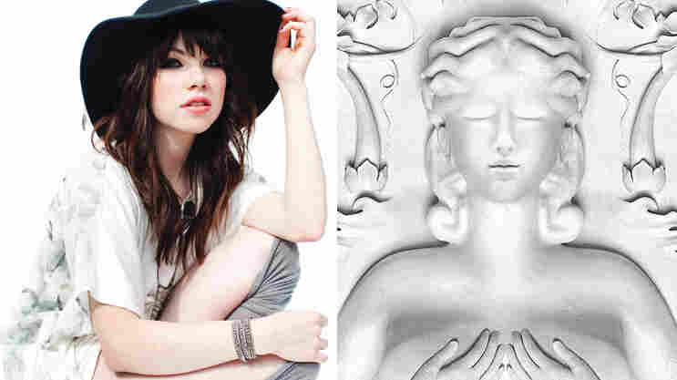 Carly Rae Jepsen and the cover of Kanye West's latest album, Cruel Summer.