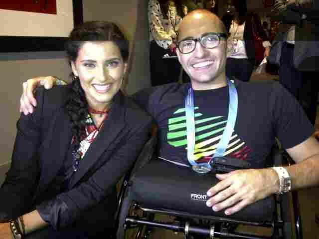 Nelly Furtado with Spencer West