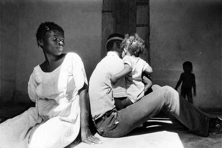 Family in room, Carrefour, Haiti, 1986
