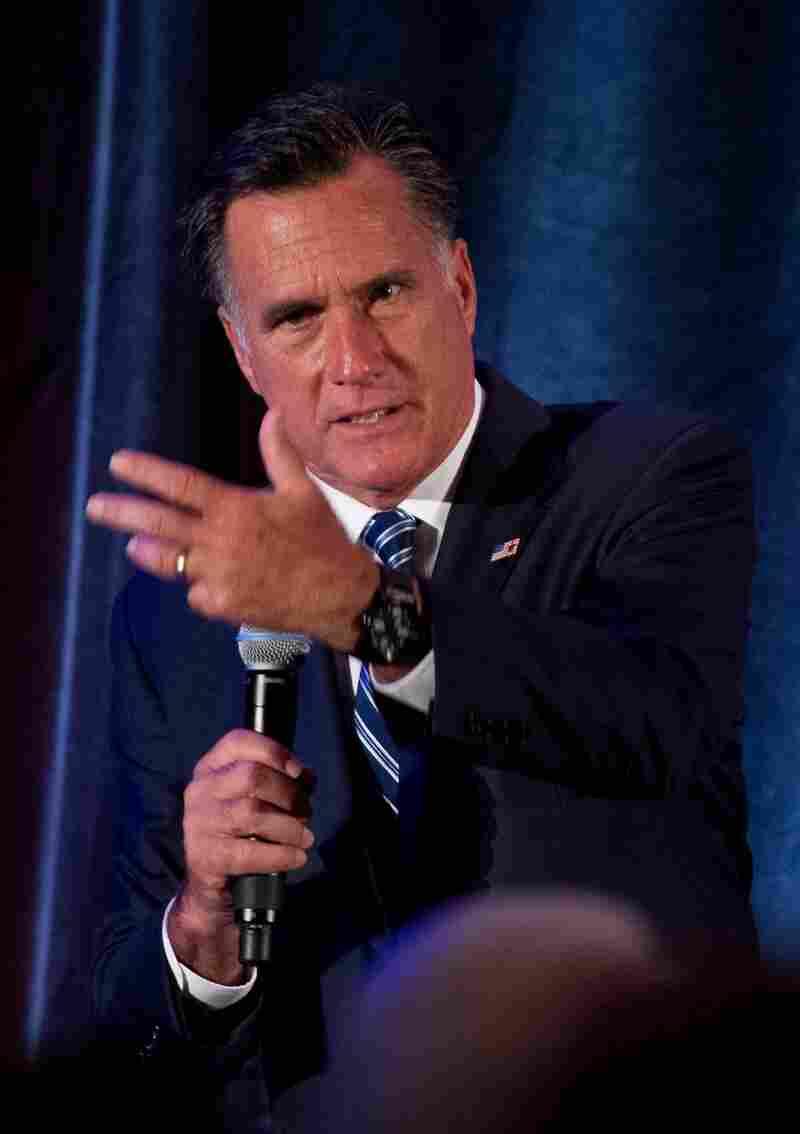 Mitt Romney speaks at a fundraiser in Dallas on Tuesday.