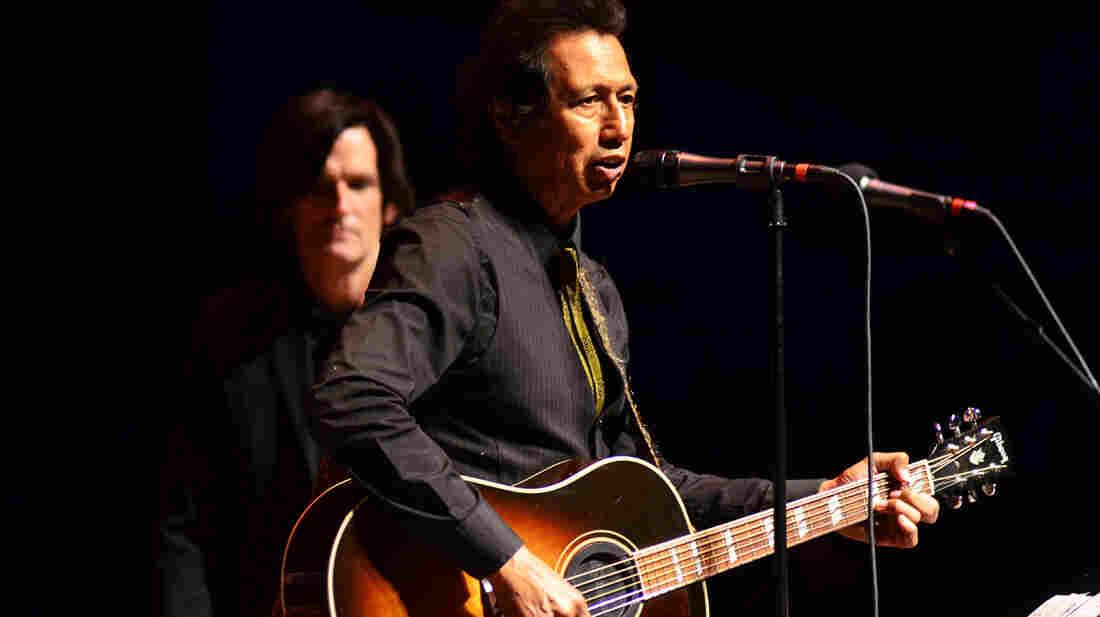 Alejandro Escovedo performs on Mountain Stage.