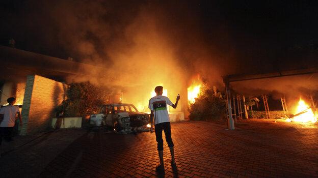 The U.S. Consulate in Benghazi, Libya, was in flames dur