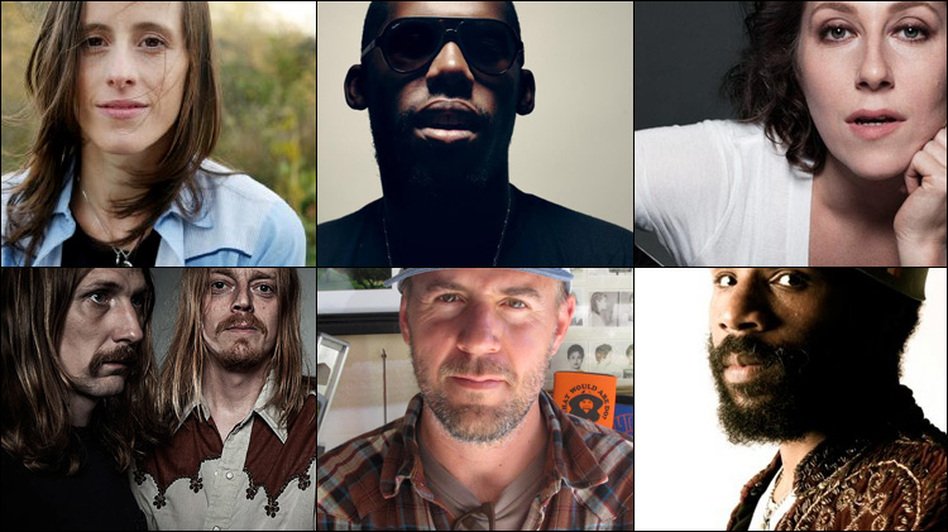 Graveyard (clockwise from upper left), Martha Wainwright, Flying Lotus, Sera Cahoone, and Cody ChesnuTT. (Courtesy of the artists)