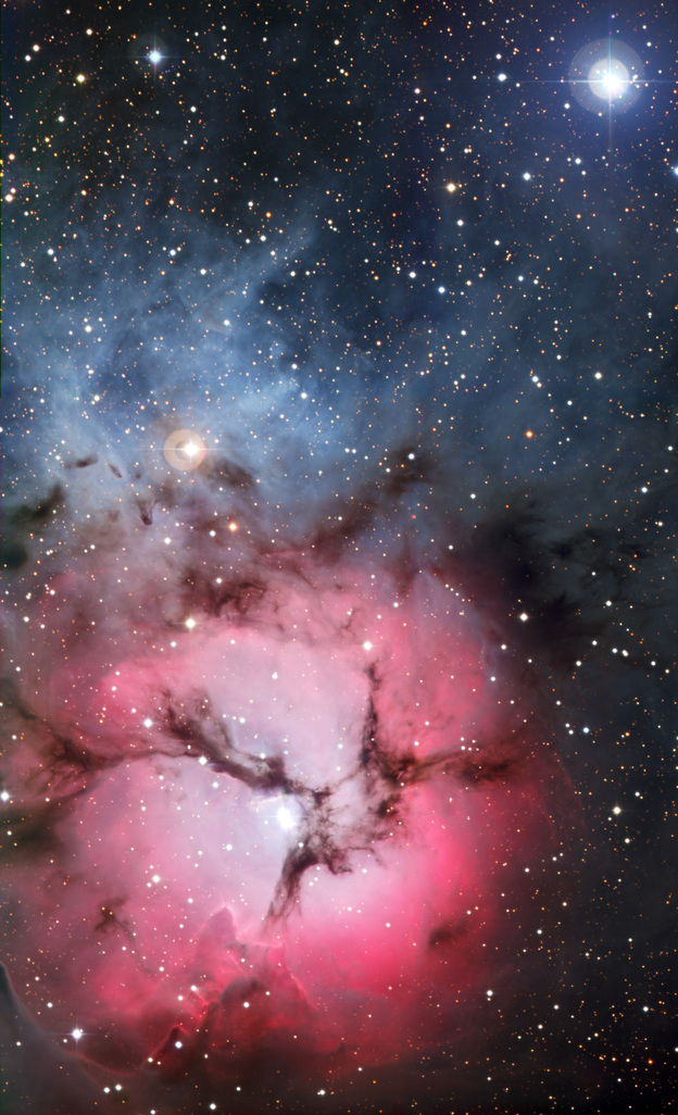A portal to another universe? No, just the Trifid Nebula, a massive star factory. This amazing image was captured by the European Southern Observatory's La Silla facility in northern Chile.