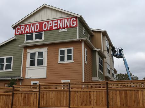 Construction that was underway this summer in San Mateo, Calif.