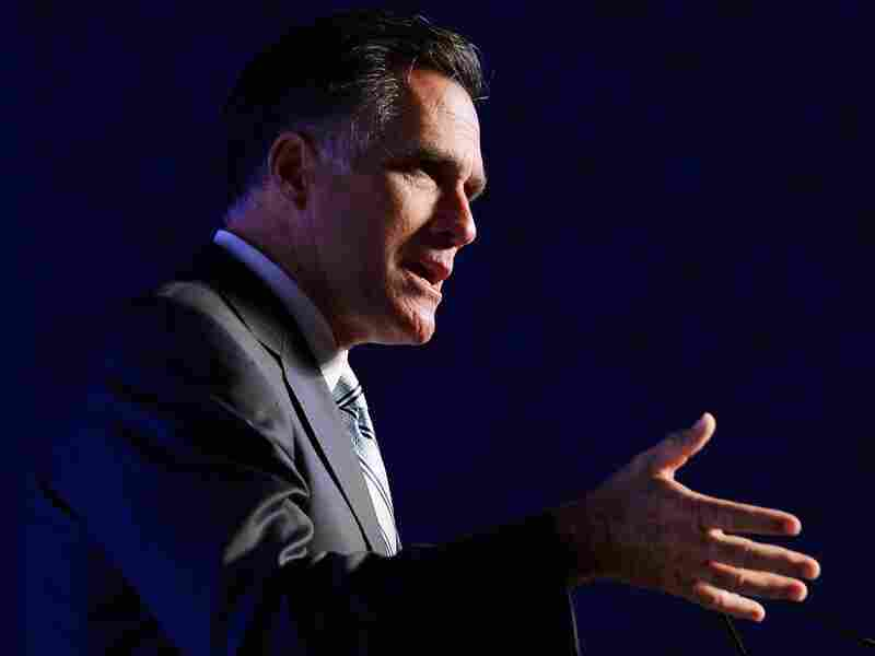 Republican presidential candidate Mitt Romney addresses the U.S. Hispanic Chamber of Commerce's 33rd annual national convention on September 17, 2012 in Los Angeles.