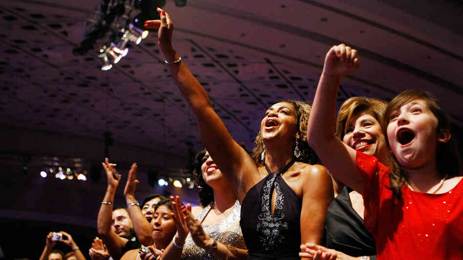 Four years ago, then-presidential candidate Barack Obama was greeted warmly at the Congressional Hispanic Caucus Institute's awards gala in Washington, D.C. Polls show Obama retains strong Hispanic support this year, but also that many who are eligible don't plan to vote.