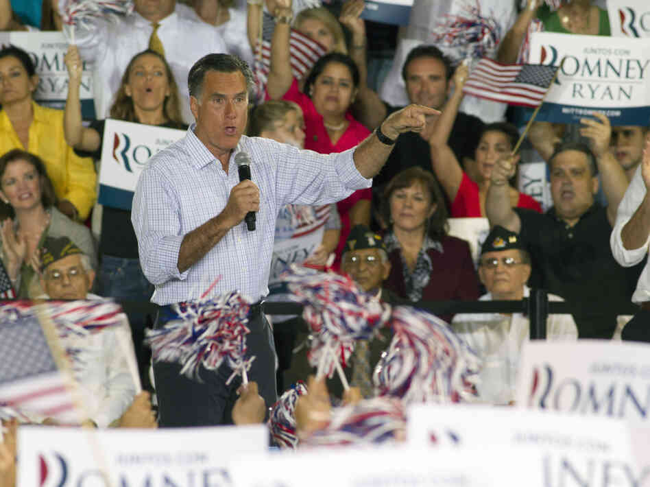 Mitt Romney speaks in Miami on Wednesday.