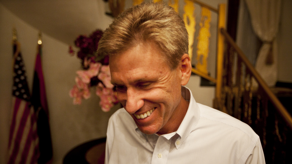 U.S. officials and Libyan militiamen met to discuss the deteriorating security in Benghazi just two days before the attack that killed Ambassador Chris Stevens and three other Americans. Stevens is shown here at the consulate in June. (NPR)