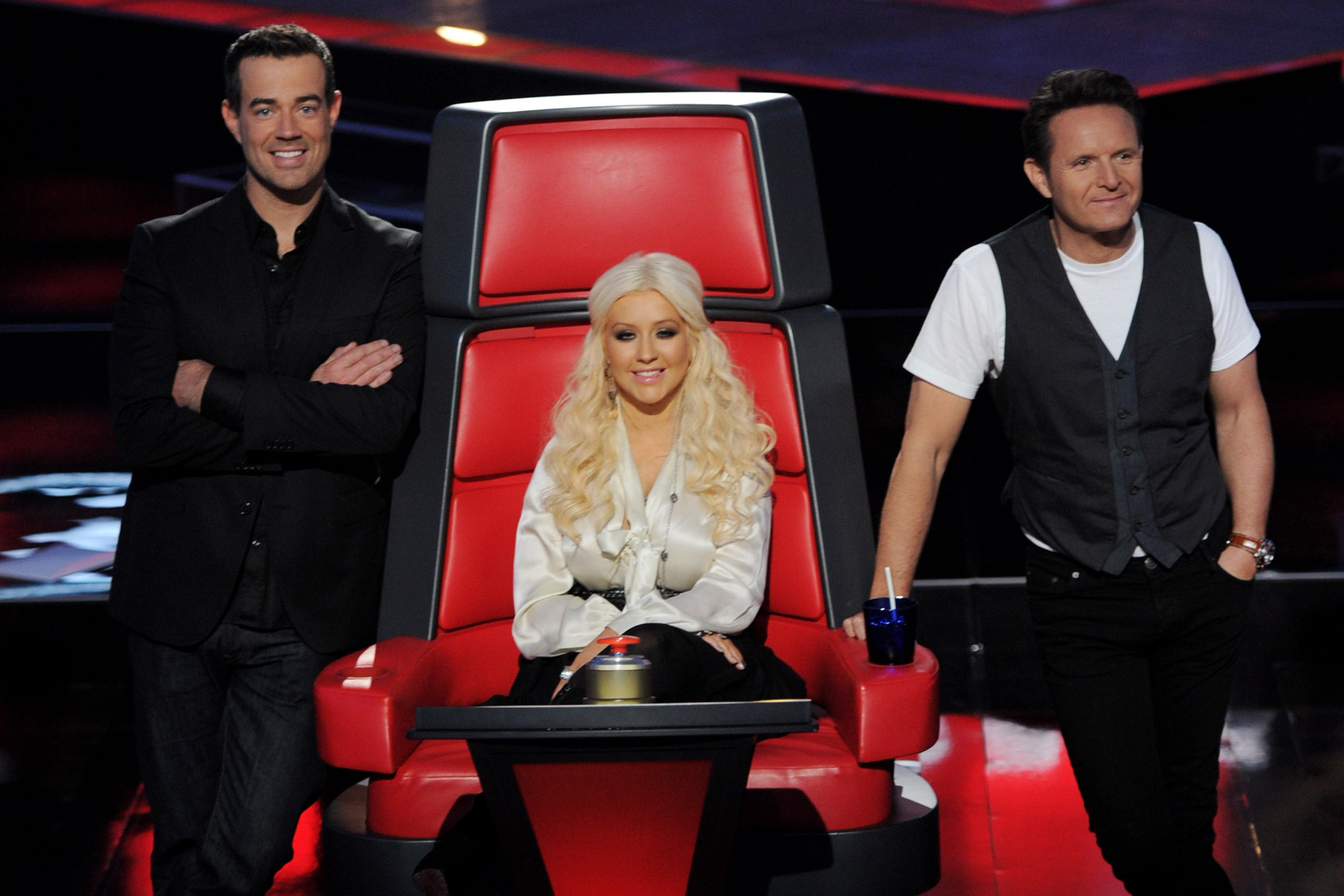 Last year, Aguilera was among the first set of judges on NBC's singing competition The Voice.