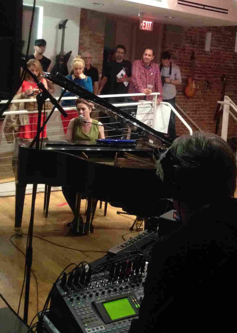 Amanda Palmer at the piano.