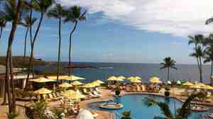 The Four Seasons resort on Lanai. Software mogul Larry Ellison recently bought virtually the entire Hawaiian island.