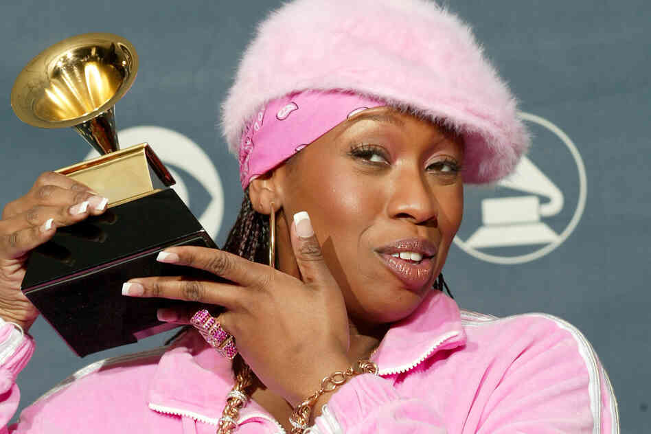Missy Elliott, who won a Grammy award for Best Female Rap Solo Performance in 2003 and was a mentor to Aaliyah. She recently released two new songs.