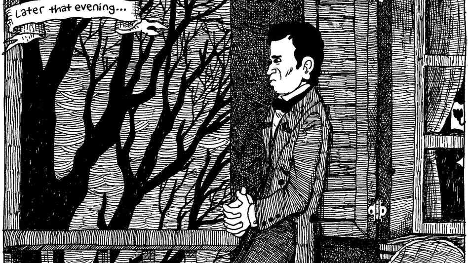 Porch Ponderin'. From The Hypo: The Melancholic Young Lincoln © 2012 Noah Van Sciver